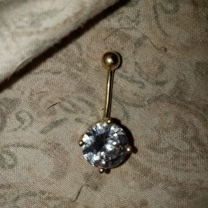 Jewelry - CZ gold belly ring